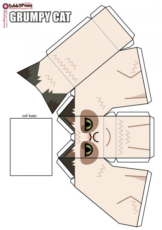 grumpy_cat_papercraft